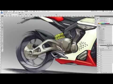 Motorcycle Design Sketch part.3 by arataoono / Borderless