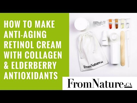 How to make anti-aging retinol cream with collagen & elderberry antioxidants