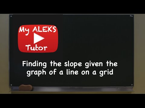 Aleks - Finding slope given the graph of a line on a grid