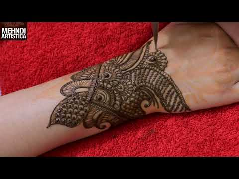 Step By Step Basic Henna Mehndi Design | Learn Henna Tattoo Mehendi From The Beginning Style