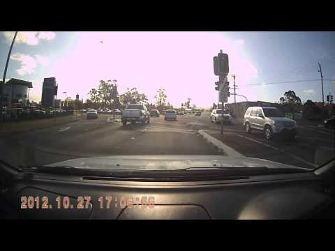 Two Cars Go Through A Red Light - NSW Australia