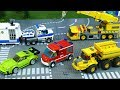 Lets Play With Cars Fire Truck Police Car Dump Truck And Racing Cars Toy Vehicles For Kids
