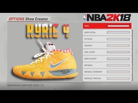 half off 76c80 95676 NBA 2K18 Shoe Creator | Kyrie 4 Yellow Lobster