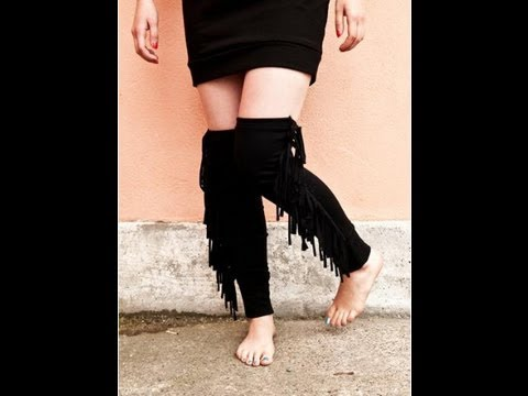 DIY HOW TO MAKE FASHIONABLE  LEG WARMERS EASY