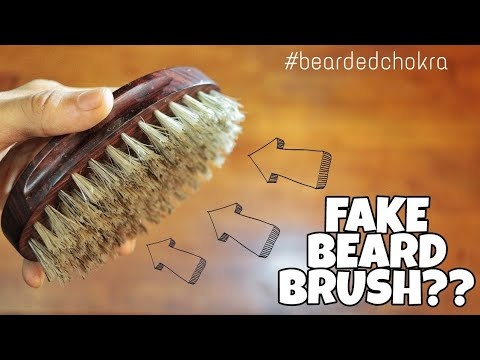 Your Beard Brush [boar bristle brush] might be FAKE!!