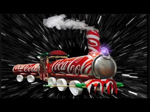 How to Make a Train (Electric Car) Out of Coca-Cola Can and Popsicle Sticks