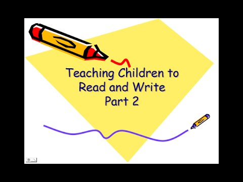 Teaching Children to Read and Write 2
