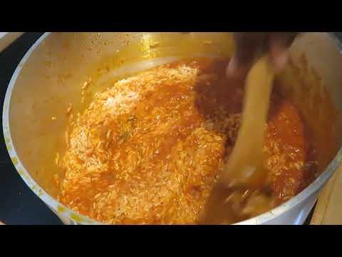 22. How to make corn beef jollof rice