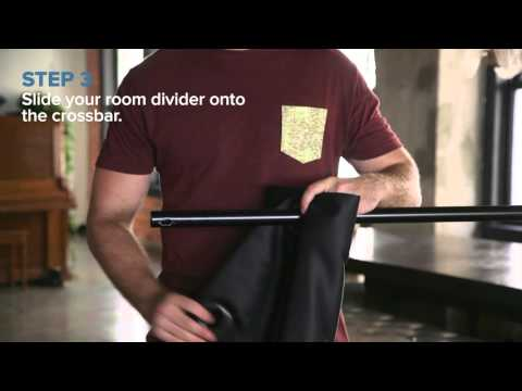 Freestanding Room Divider Kit How To Video #DivideAndConquer