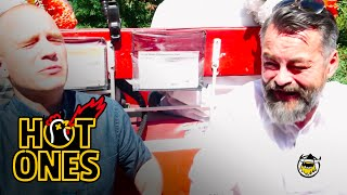 Chili Klaus and Sean Evans Eat the World's Hottest Pepper on the Carriage Ride From Hell | Hot Ones