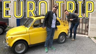 Hoovies Garage European Adventures - Tyler drives a Classic Fiat 500 L