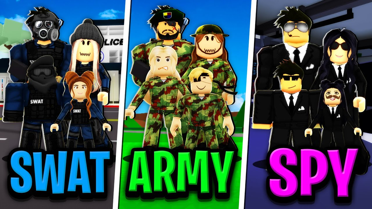 SWAT FAMILY vs ARMY FAMILY vs SPY FAMILY in Roblox BROOKHAVEN RP!!