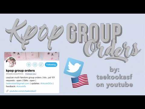 [ tutorial ] how to order kpop fansite goods | group orders