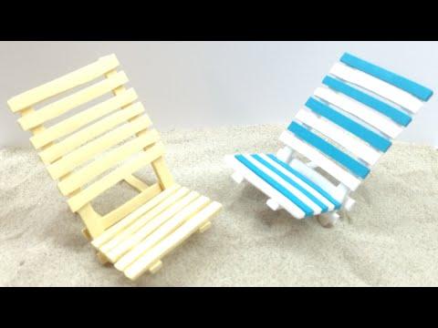 Polymer clay Beach Chair/Cadeira de praia feita em Fimo