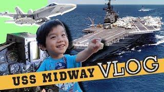 去參觀美國航空母艦!好多戰鬥機直升機好好玩!kids Tour Uss Midway Museum & Petco Park | 小陶德沛莉 玩具開箱