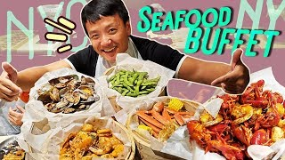 New York City SEAFOOD BUFFET & BEST Korea BBQ!