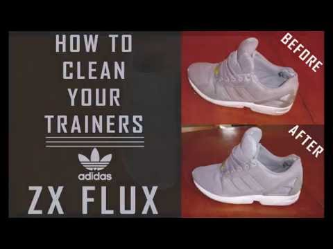 How To Clean Dirty Trainers / Sneakers / Shoes Easy Tutorial - Adidas ZX FLUX