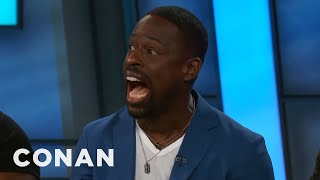 """Sterling K. Brown Does """"Get To The Choppa!""""  - CONAN on TBS"""