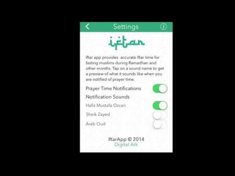 Iftar App for Apple iOS. Most accurate Athan timer & Qibla