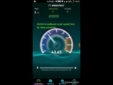 Airlink broadband surat 75 mbps connection speed test