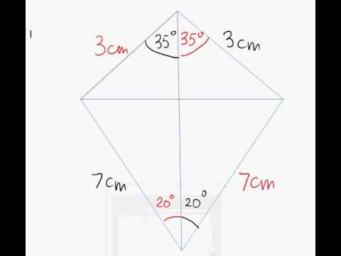 how to find angles in a kite