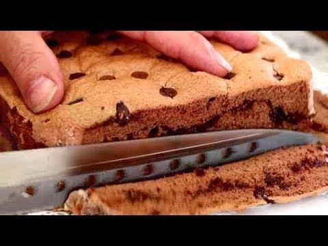 Chocolate Jiggly Castella Cake