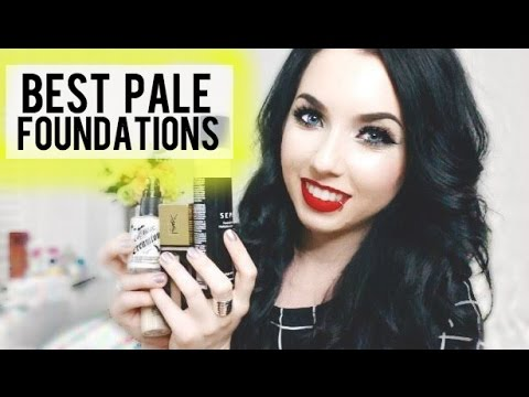 10 Best Foundations for VERY PALE SKIN! Drugstore & High End