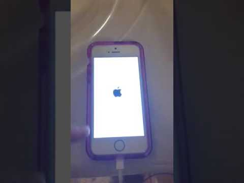 iPhone is blinking on and off with Apple image