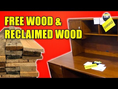 Reclaimed Wood & Free Wood - Money Saving Tips for Woodworking Part 2