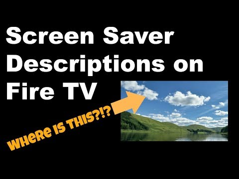 Firestick TIP! Turn On Screen Saver Descriptions on Amazon Fire TV!