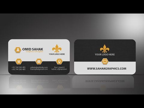 business card design in photoshop cc | Front | Photoshop Tutorial