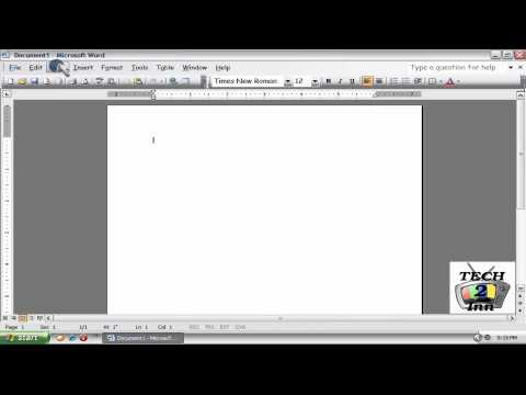 How to insert Header and Footer in Microsoft Office Word 2003