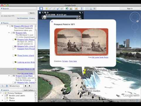 Embedding a Picasa photo in a placemark in Google Earth.