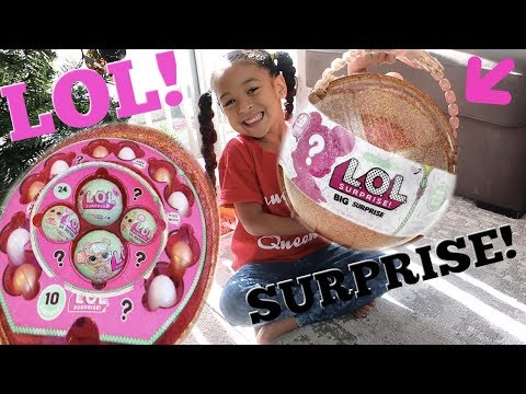 LOL Surprise GIANT Ball Big & Lil Sisters Baby Dolls UNBOXING!!!!!