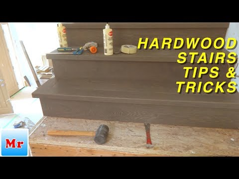 Hardwood Stairs Tips and Tricks for Risers Installation MrYoucandoityourself