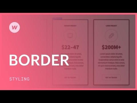 Borders - Webflow CSS tutorial