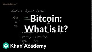 Bitcoin: What is it? | Money, banking and central banks  | Finance & Capital Markets | Khan Academy