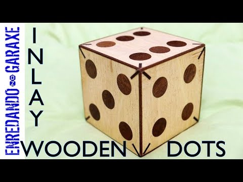 How to make plywood dice | Inlay wooden dots