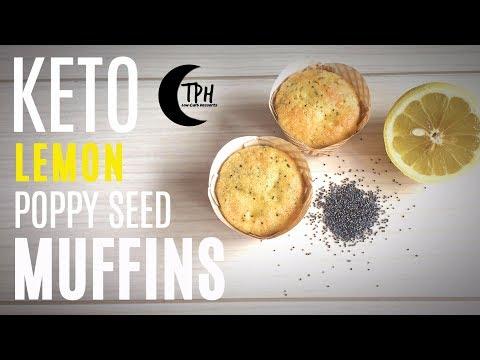 Keto Lemon Poppy Seed Muffins | Low-Carb Muffin Recipe | Easy Keto Dessert