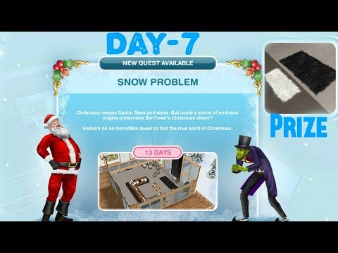 Simsfreeplay - Snow Problem Quest Day - 7 Christmas Holiday Update 2017