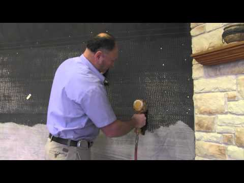 Step 1   Surface preparation: Stone Veneer Installation