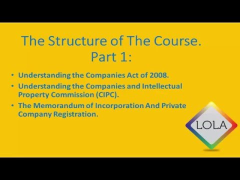How To Register A Company In South Africa 2016 | Course overview & break down