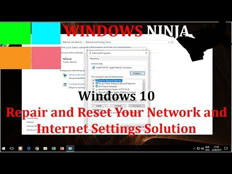 Windows 10 Repair and Reset Your Network Internet Settings Solution