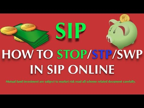 HOW TO CANCEL, STP, SWP IN SIP MUTUAL FUND ONLINE