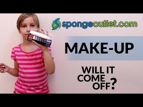 Removing Makeup from walls using Magic Sponge Erasers