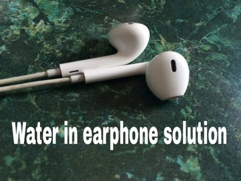 Water in Apple  Earpods ,Earphone ... Solution Here For Free ..Quick Method