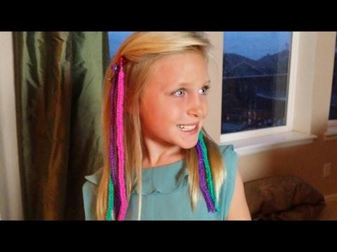 How to Make RAINBOW LOOM HAIR EXTENSIONS *Loomtastic Links* ORIGINAL*
