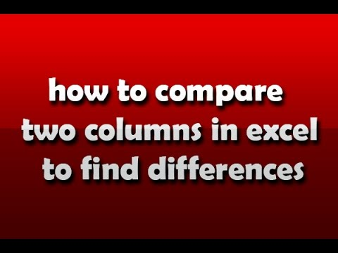 how to compare two columns in excel to find differences