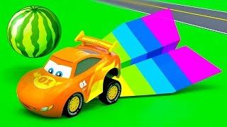 Little Cars City Stories - A Dangerous situation with a Huge Watermelon