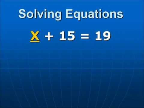 Solving a Single Variable Equation that contains a positive constant.